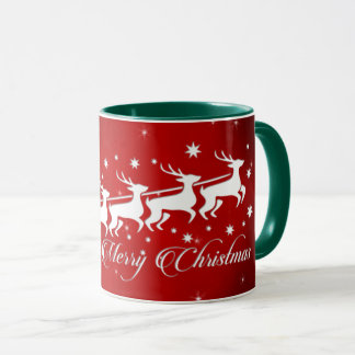 Pope Noel in sleigh (green) Mug