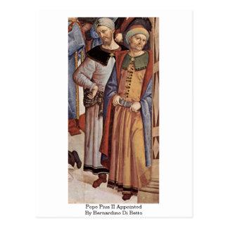 Pope Pius Ii Appointed By Bernardino Di Betto Post Card