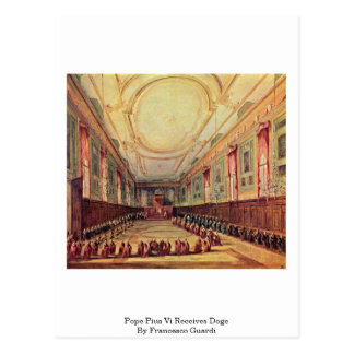 Pope Pius Vi Receives Doge By Francesco Guardi Postcard