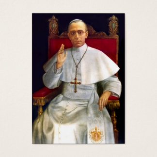 Pope Pius XII Prayer-card Business Card
