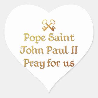 Pope Saint John Paul II Pray for us Heart Sticker
