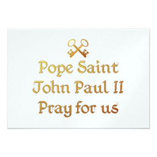 Pope Saint John Paul II Pray for us Personalized Announcements