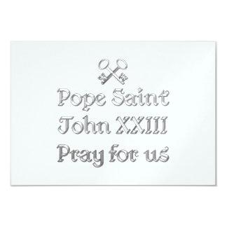 Pope Saint John XXIII Pray for Us 9 Cm X 13 Cm Invitation Card