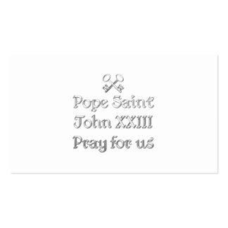 Pope Saint John XXIII Pray for Us Business Cards