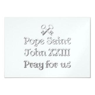 Pope Saint John XXIII Pray for Us Custom Invites