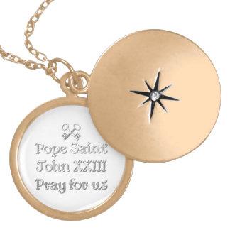 Pope Saint John XXIII Pray for Us Locket Necklace
