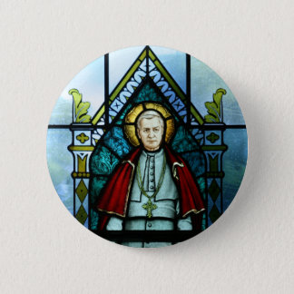 Pope Saint Pius X Stained Glass Art 6 Cm Round Badge