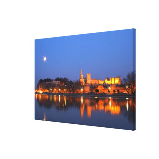 Pope's Palace in Avignon and the Rhone river at Gallery Wrapped Canvas