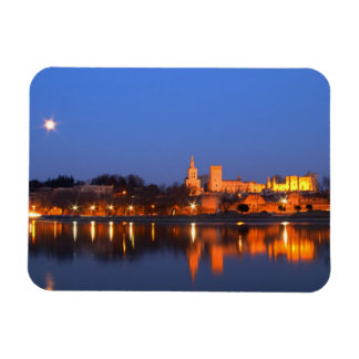 Pope's Palace in Avignon and the Rhone river at Rectangular Photo Magnet
