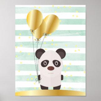 Popey The Panda Childrens Wall Art