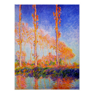 Poplars in the Sun by Claude Monet Posters