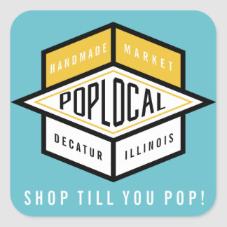 Poplocal Square Sticker