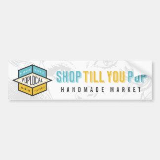 PopLocal White Bumper Sticker
