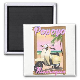 Popoyo Nicaragua beach travel poster Magnet