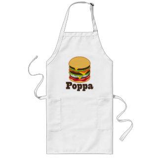 Poppa Grandpa Burger BBQ Grilling Gift Long Apron