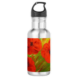 poppies 532 ml water bottle