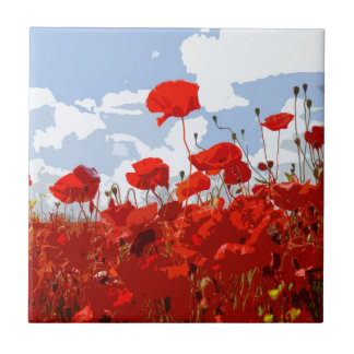 POPPIES 6 CERAMIC TILE