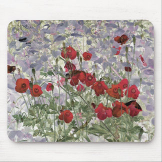 poppies abstract mousepad