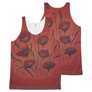 poppies All-Over print singlet