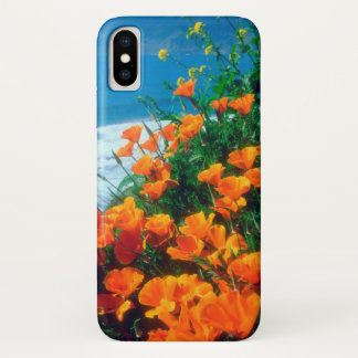 Poppies along the Pacific Coast near Big Sur iPhone X Case