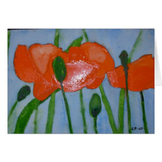 Poppies and Blue Sky Greeting Card