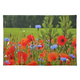 Poppies And Cornflowers Placemat