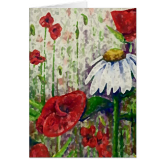 Poppies and Daisies Card