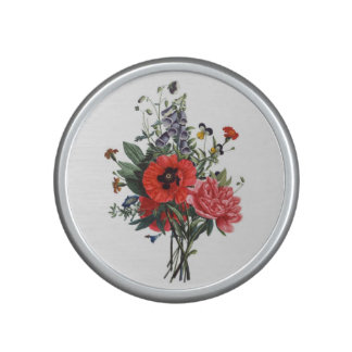 Poppies and Foxgloves Bouquet Bluetooth Speaker