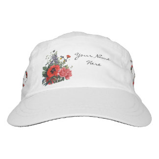Poppies and Foxgloves Bouquet Hat