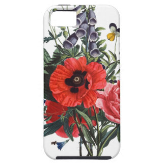 Poppies and Foxgloves Bouquet iPhone 5 Cases