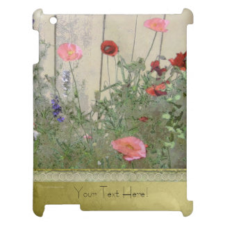 Poppies and Gold Case For The iPad