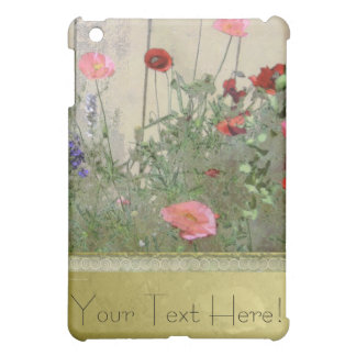 Poppies and Gold iPad Mini Cover