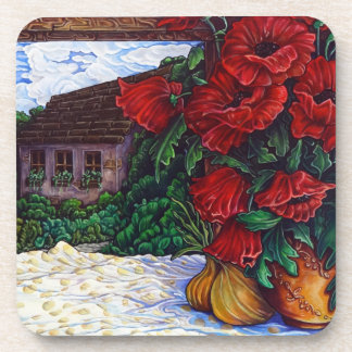 Poppies and Onions Coaster Set of 6