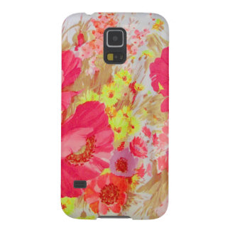 Poppies and Sunshine. Floral Print. Galaxy S5 Case