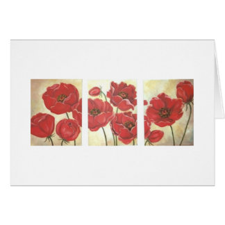 'Poppies' Blank Notecard