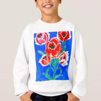 Poppies Bouquet Painting Sweatshirt