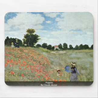 Poppies By Claude Monet Mousepad