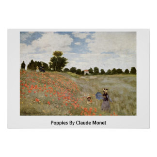 Poppies By Claude Monet Poster