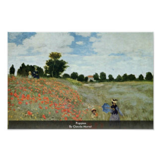 Poppies By Claude Monet Posters