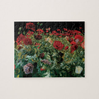Poppies by Sargent, Vintage Flowers Floral Art Jigsaw Puzzle