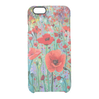 Poppies Clear iPhone 6/6S Case