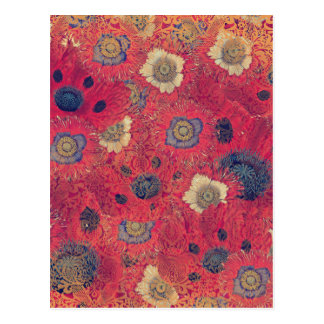 Poppies Deluxe: Hot red and pink poppy fill with b Postcard