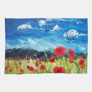 Poppies Dish Towel