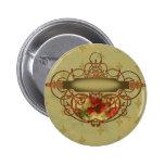 Poppies Fleur de Lis Victorian Style Badges