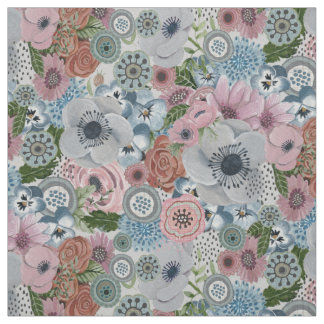 Poppies Floral Novelty | Fabric Curtain