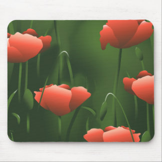Poppies Floral Poppy Mousepad