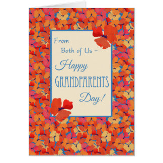 Poppies, Grandparents Day Card, From Both of Us Card