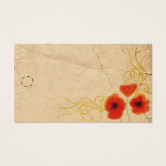 Poppies Hang Tag Business Card