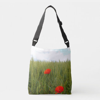 Poppies in a Wheat Field Cross Body Bag