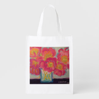 Poppies in Bloom Reusable Grocery Bag